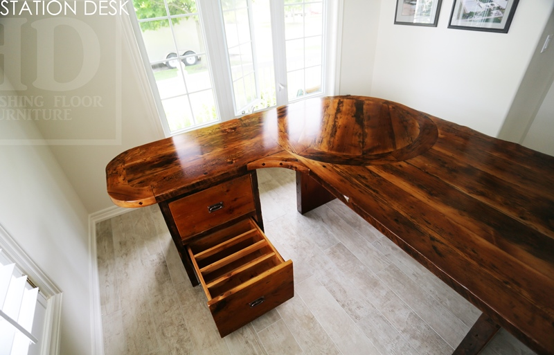 Reclaimed Wood Desks Vineland Ontario Barnwood Hemlock Custom