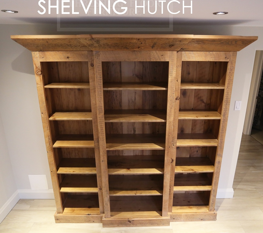 Custom Reclaimed Wood Shelving Hutch In Dundas Ontario Blog