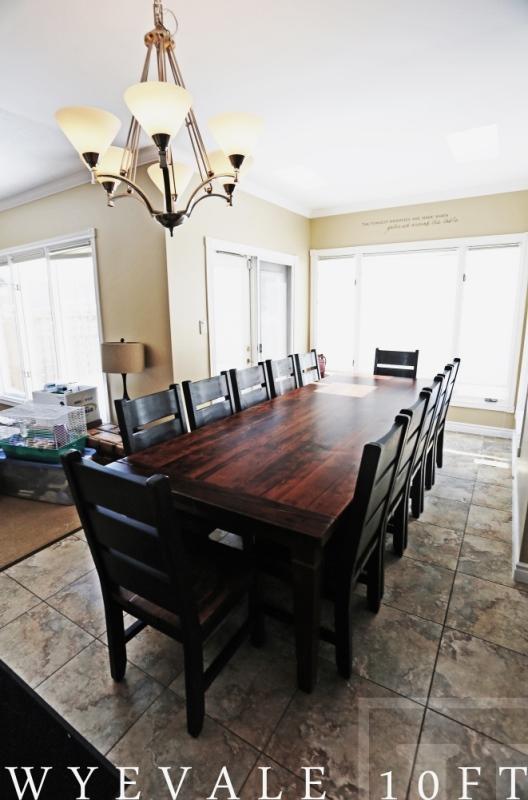 Rustic Tables Ontario Reclaimed Wood Guelph Hemlock Recycled Furniture