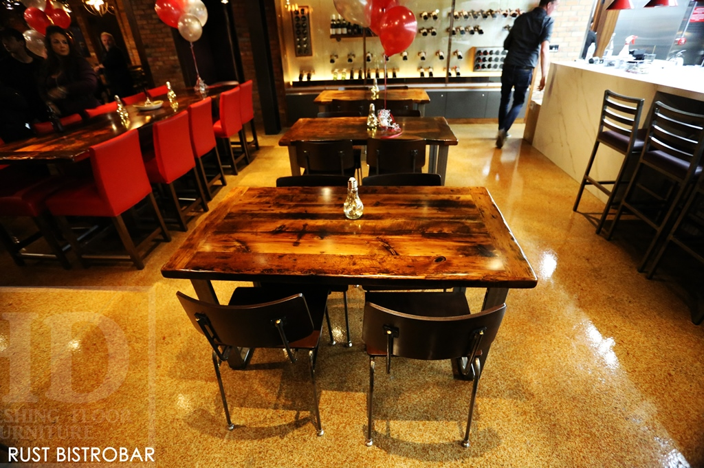 Restaurant Tables Ontario Pub Table Tops Reclaimed Wood