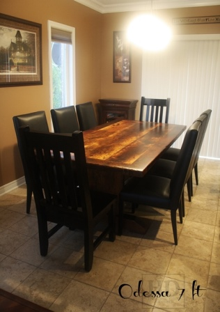 Reclaimed Wood Tables Barrie Ontario Recycled Furniture Canada