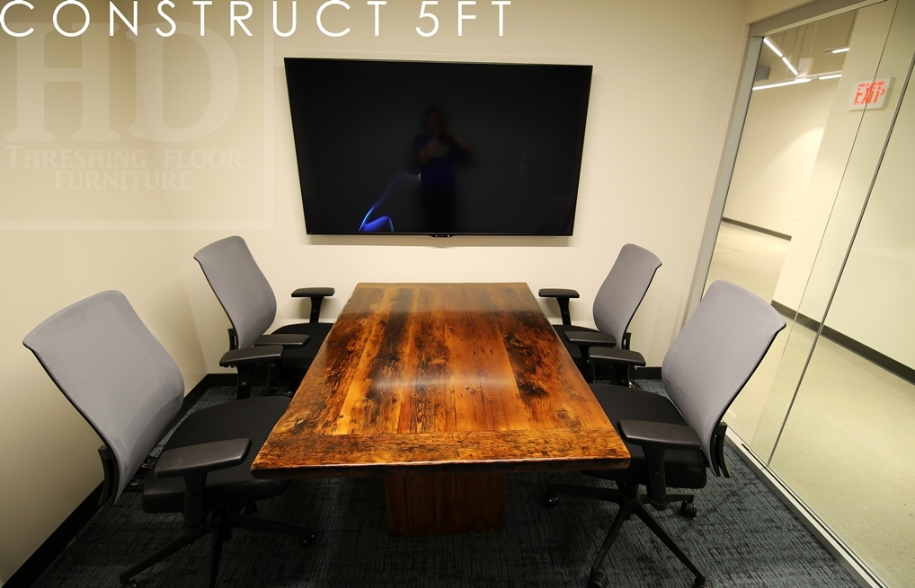Small Conference Room Reclaimed Wood Table Blog - 5 foot conference table
