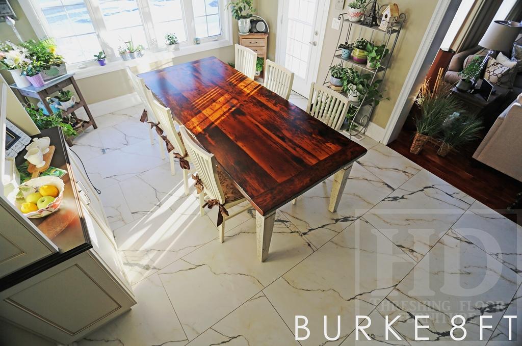ft Custom Reclaimed Wood Harvest Table in Glen Williams Ontario