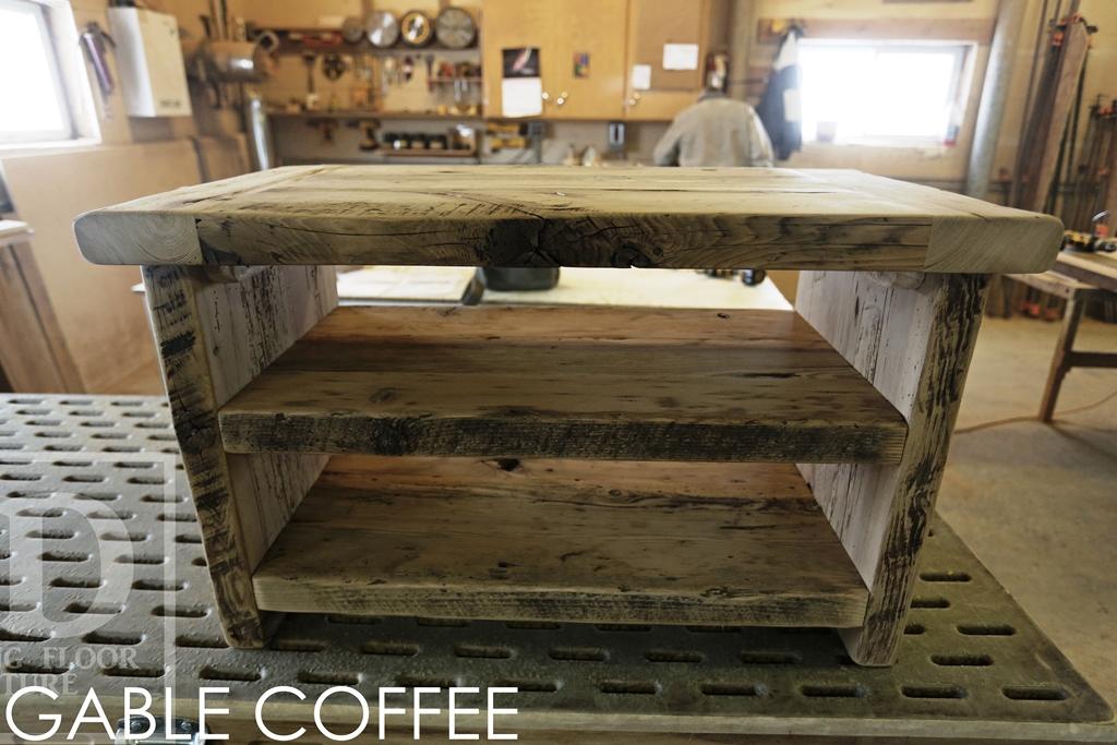Reclaimed Wood Coffee Tables Ontario Gerald Threshing Floor Custom Table