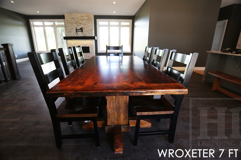 reclaimed wood tables ontario pedestal tables solid wood table rustic furniture  ontario