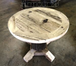 Reclaimed Wood Round Kitchen Table Gerald Reinink (4) | Blog
