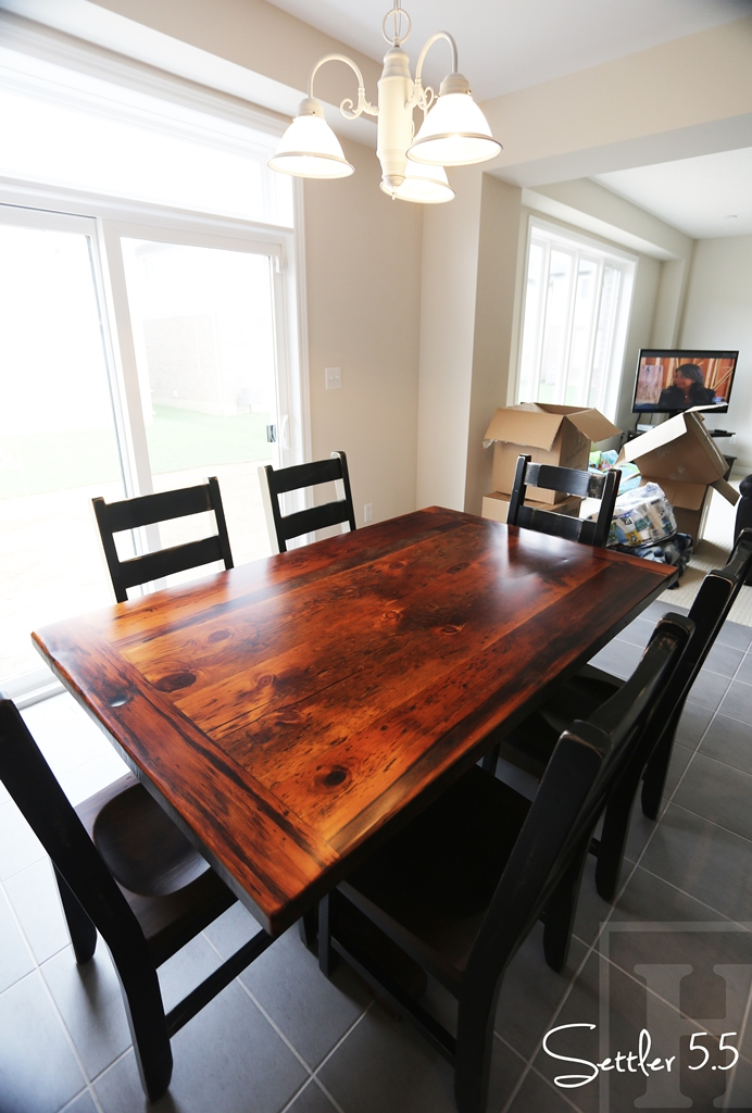 Recycled Wood Table Historical Antique Tables Ontario Wormy Maple Chairs