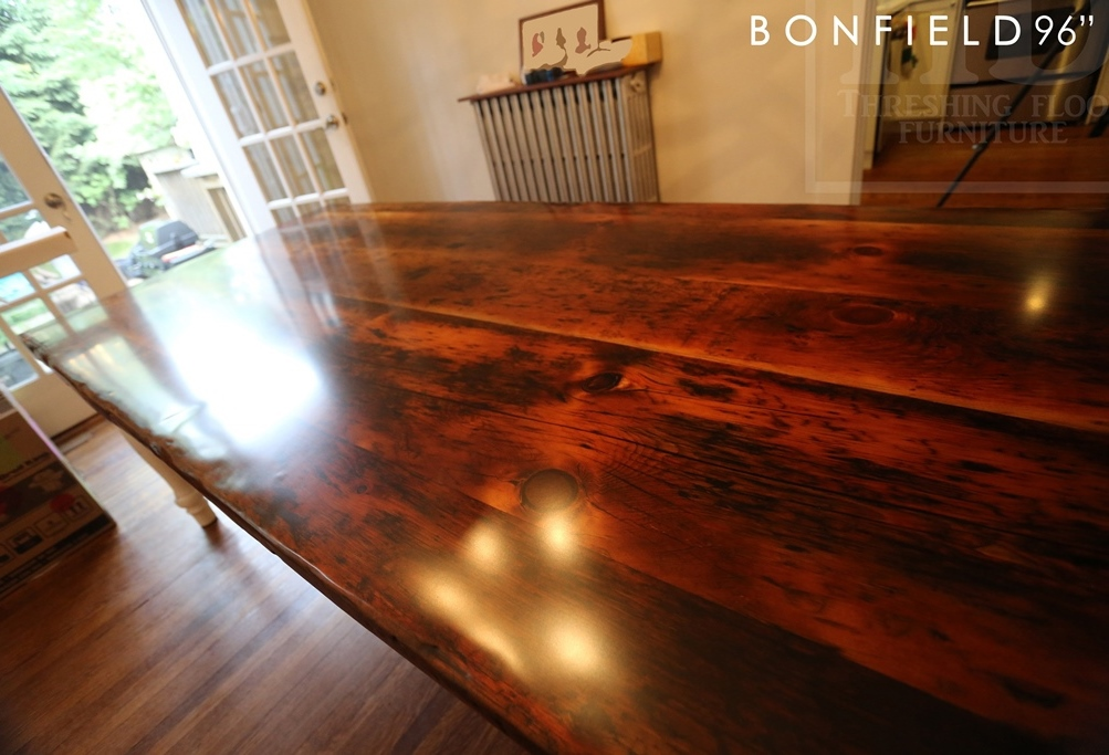 Reclaimed Wood Pine Harvest Table in Toronto Home  Blog