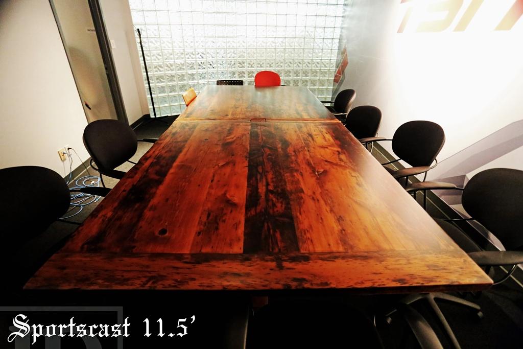 boardroom table Ontario, conference table, boardroom tables Ontario, commercial tables, marketing, HD Threshing Floor Furniture, epoxy, barnwood hemlock, TSN, Reinink, rustic table, resin, modern boardroom table