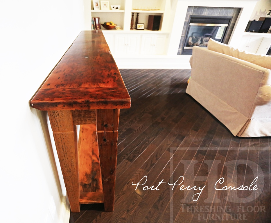 reclaimed wood furniture Ontario, cottage furniture Ontario, console, sideboard, Port Perry, Gerald Reinink, HD Threshing Floor Furniture, epoxy, resin, recycled, rustic farmhouse, modern farmhouse