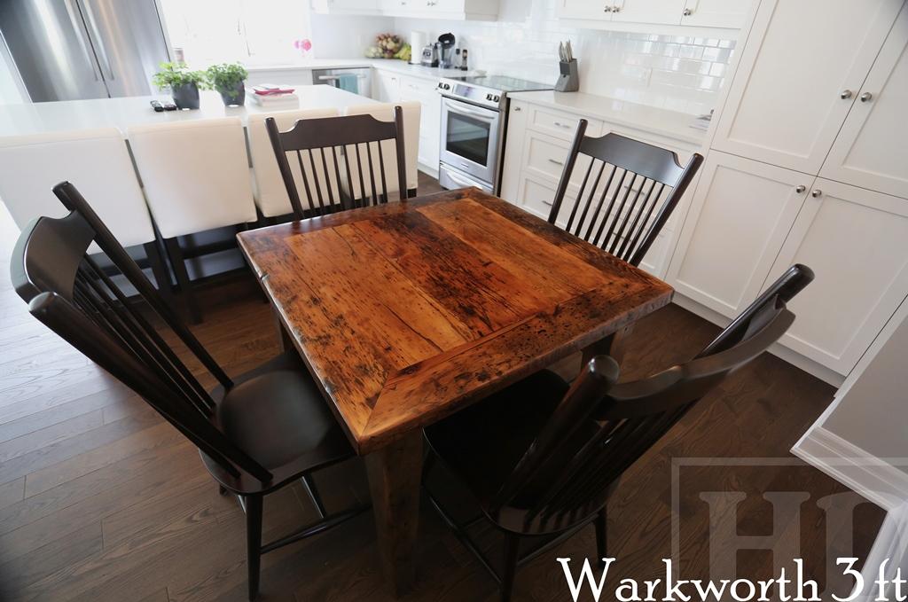 harvest tables Burlington, reclaimed wood tables Toronto Ontario, Reinink, rustic furniture, cottage table, epoxy, recycled, barnwood tables, modern farmhouse