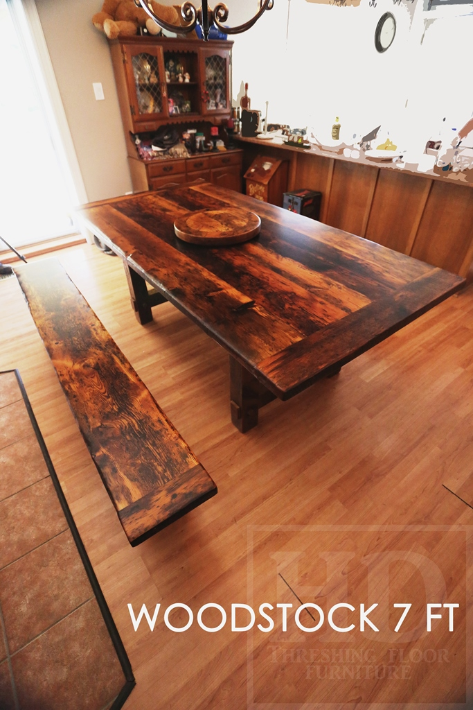 Reclaimed Wood Table Woodstock Ontario Gerald Reinink HD Threshing Barnwood  (2)