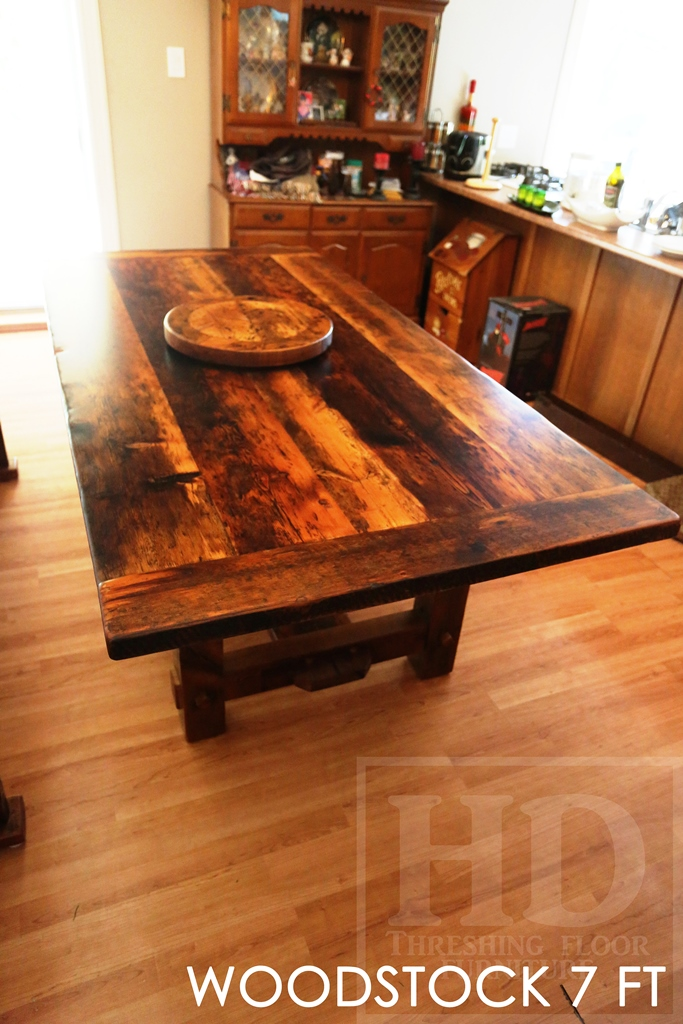 reclaimed wood tables Ontario, Woodstock, rustic table, rustic, cottage tables Ontario, antique wood, farmhouse table Toronto, harvest tables Toronto, HD Threshing Floor Furniture