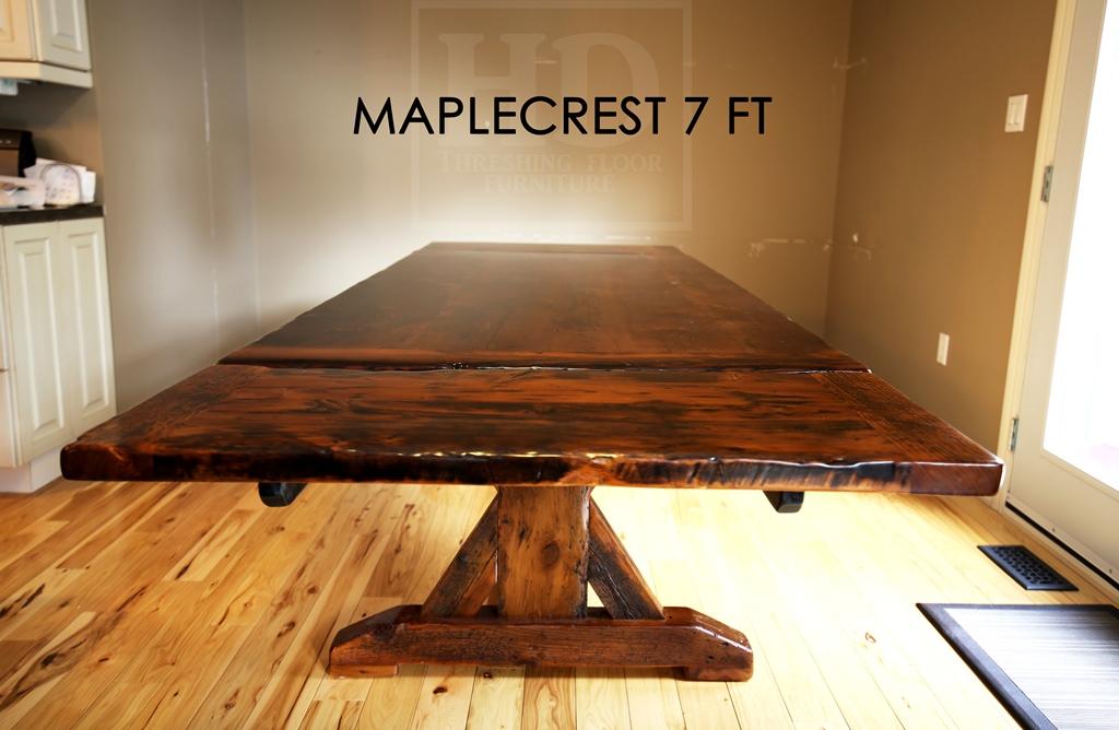 Custom Reclaimed Wood Barnwood Table Barrie Ontario Epoxy Gerald ...