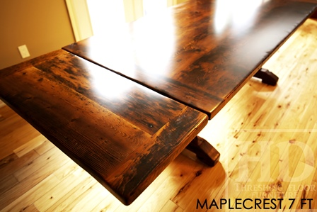 Reclaimed Wood Sawbuck Table in Barrie  Blog