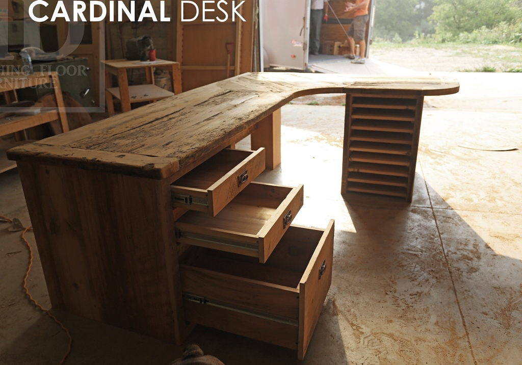 pin shaped by office guicewoodworks desk l reclaimed wood industrial