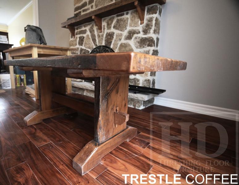 reclaimed wood coffee table, epoxy, resign, reclaimed hemlock barnwood,  coffee tables Ontario