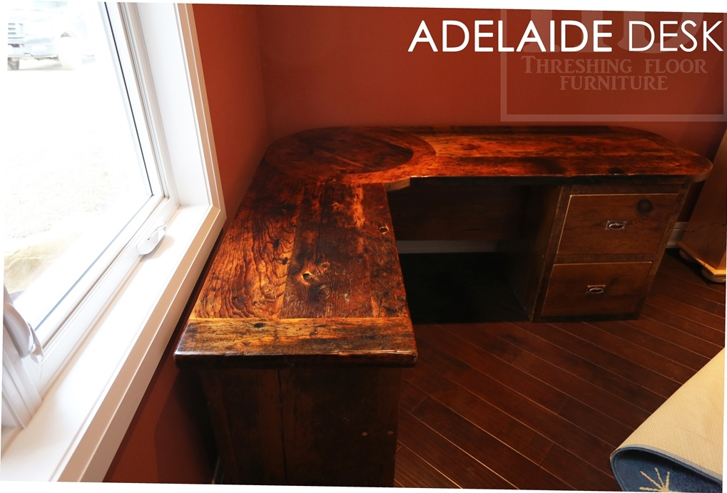 Reclaimed Wood Desk Barnwood Rustic Ontario St George