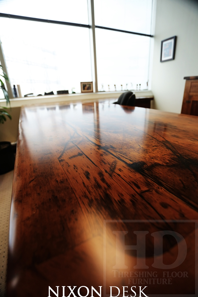 Reclaimed Wood Desk Desks Toronto Barnwood Resin Hd Threshing