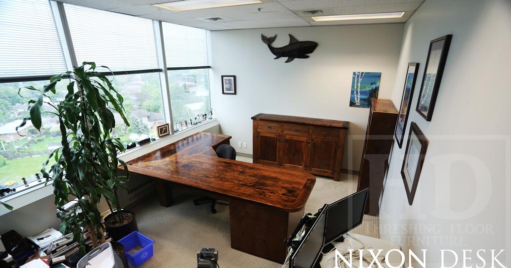 Reclaimed Wood Desk, Desks Toronto, Barnwood Desk, Epoxy, Resin, HD  Threshing