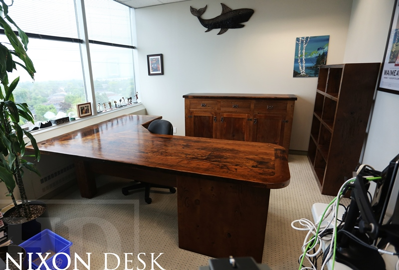wheels listing desk office custom chic reclaimed table on au wood il industrial