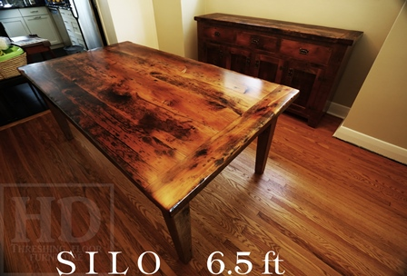 Custom Reclaimed Wood Harvest Table in London  Blog