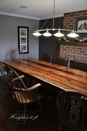 Specifications: 10 Ft Ajax Reclaimed Wood Harvest Table U2013 44u2033 Wide U2013  Reclaimed Hemlock Threshing Floor Old Growth Construction U2013 Premium Epoxy +  Satin ...