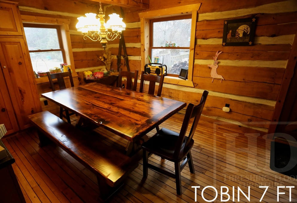 Details 7 Ft Reclaimed Wood Sawbuck Table 42 Wide Premium Epoxy Matte Polyurethane Finish Hemlock Threshing Floor Medium Sanding Out Of