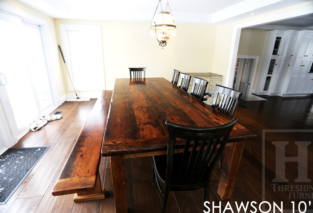 reclaimed wood harvest tables Ontario, farmhouse table, harvest tables ...