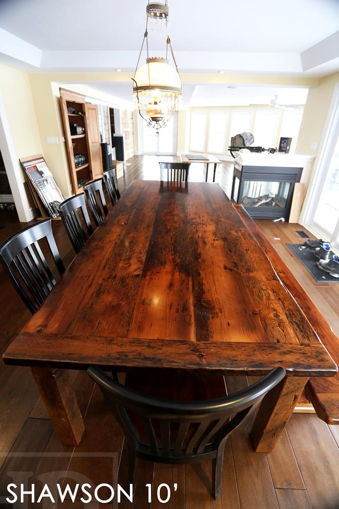 Reclaimed Wood Table Sunderland Ontario Epoxy Gerald Reinink