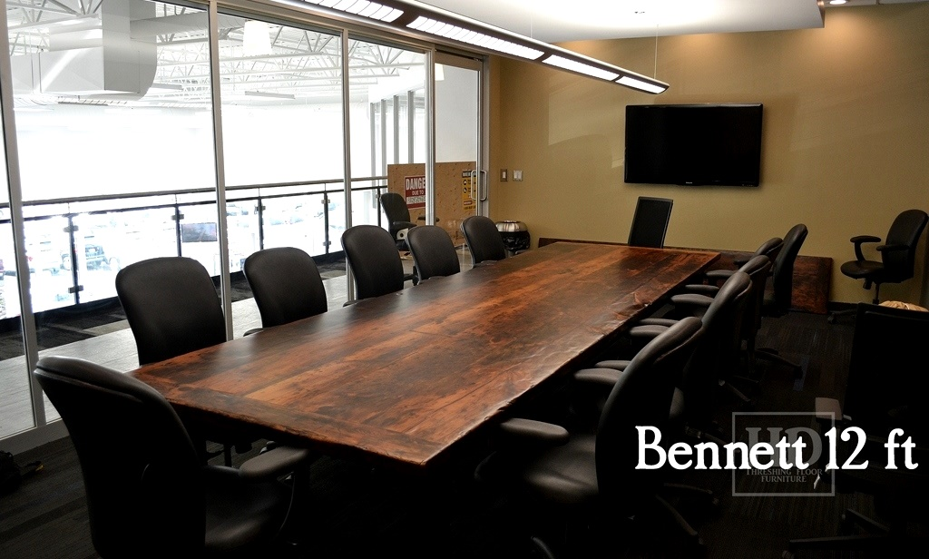 Reclaimed wood boardroom table in cambridge blog for 12 ft table