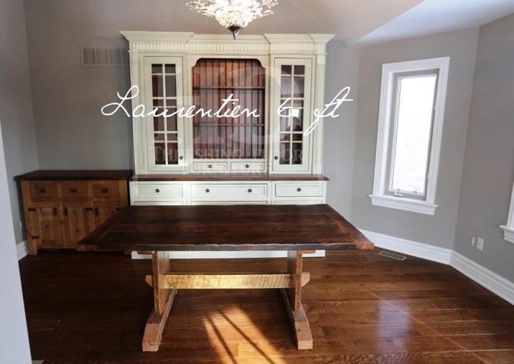reclaimed wood table Kleinburg, Ontario, rustic furniture, mennonite furniture, harvest tables, amish furniture Ontario