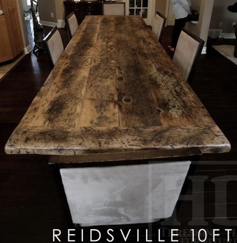 reclaimed wood tables Ontario, epoxy, hemlock, solid wood furniture Ontario, Mennonite furniture