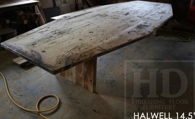 reclaimed wood boardroom table guelph, Ontario, epoxy, hemlock barnwood, boardroom table, conference table, modern furniture