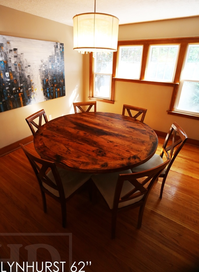 Reclaimed Wood Tables Ontario Lynhurst London Epoxy Hemlock Threshing Floor Recycled