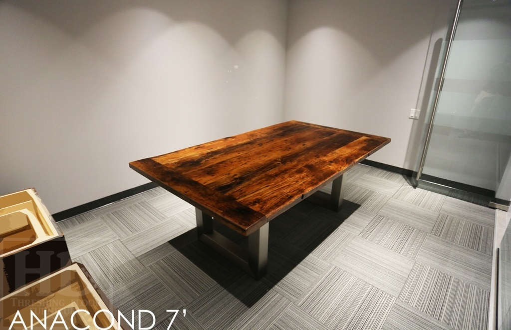Reclaimed Wood Boardroom Tables Ontario, Conference Table, Office Furniture,  HD Threshing, HD