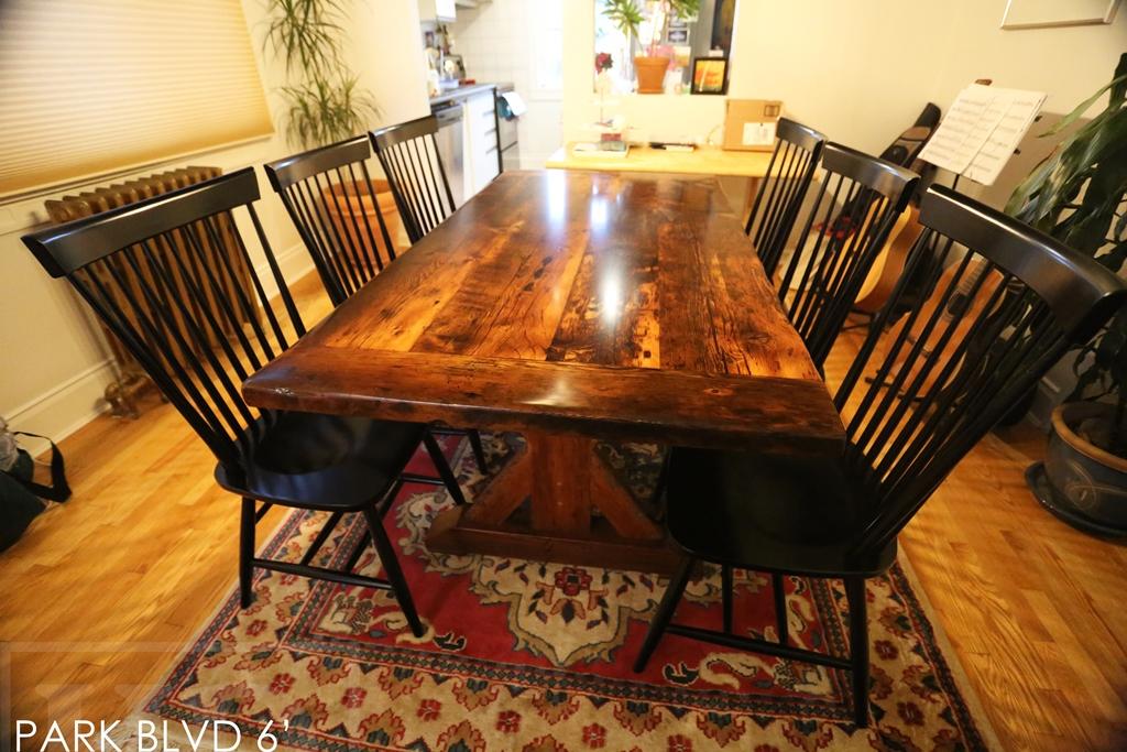 Reclaimed Wood Sawbuck Table In Toronto Blog