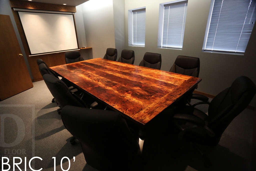 Boardroom Table Ajax, Conference Table, Reclaimed Wood Table, Ontario,  Epoxy, Resin