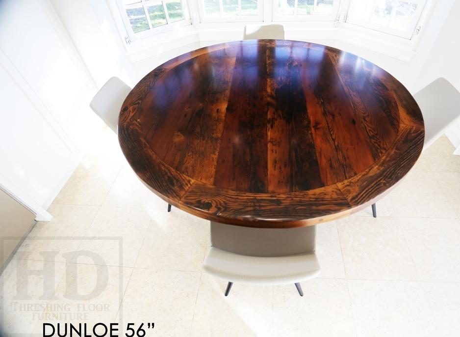 Reclaimed Wood Round Tables Epoxy Ontario Mennonite