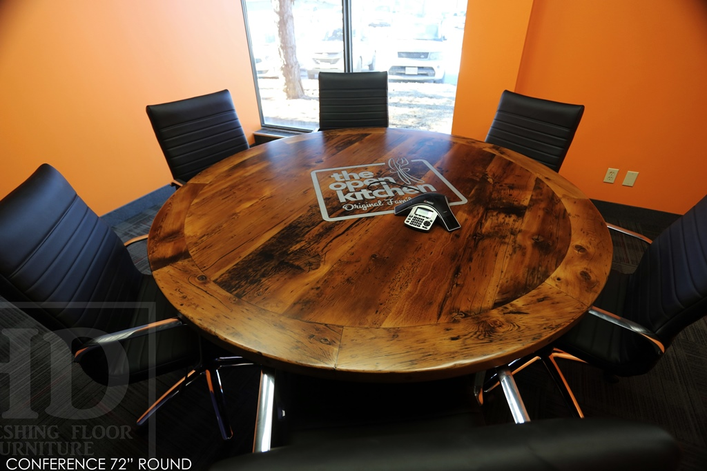 Round Boardroom Conference Table Reclaimed Wood Mississauga Ontario - Round conference table for 10