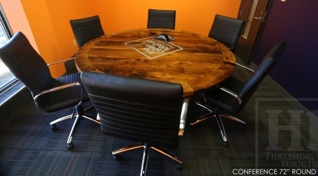 Round Boardroom Conference Table Reclaimed Wood Mississauga Ontario - 72 round conference table