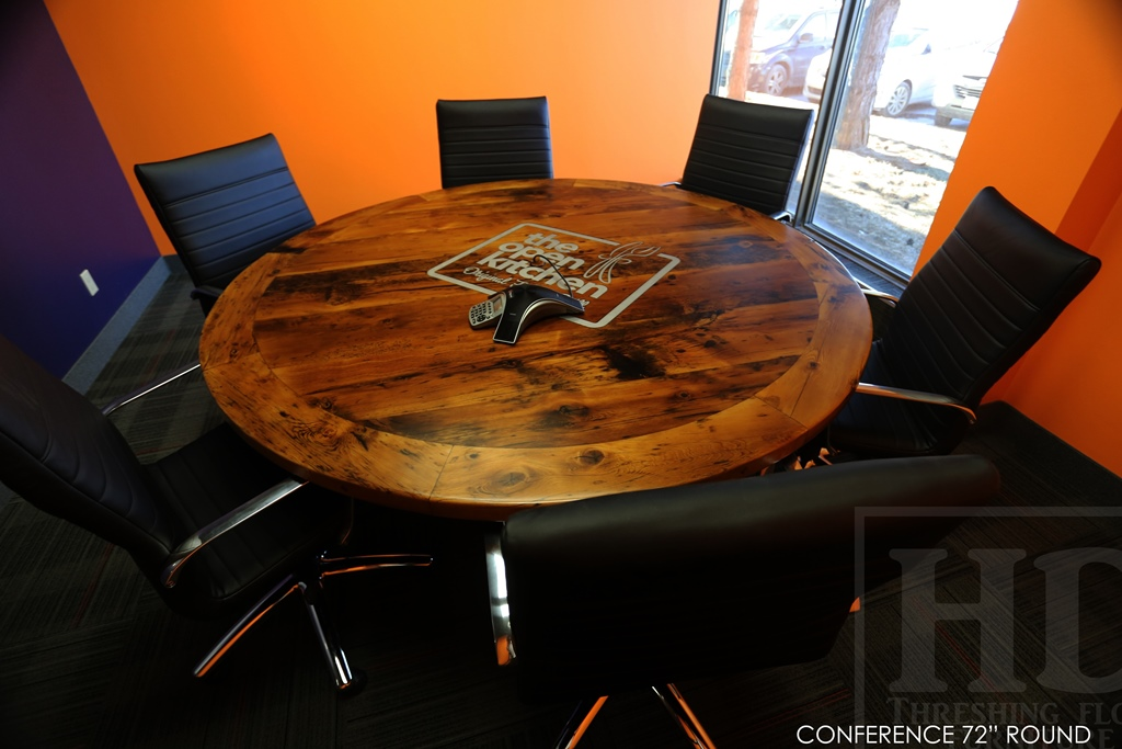 Round Boardroom Conference Table Reclaimed Wood Mississauga Ontario - Round conference table for 12