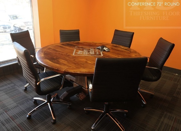 Round Conference Room Table, Boardroom Table, Reclaimed Wood Table  Mississauga Ontario, Reclaimed Wood