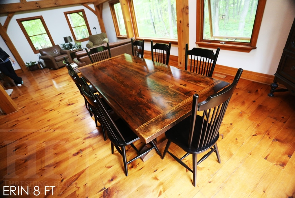 Reclaimed Wood Trestle Table In Erin Home Blog