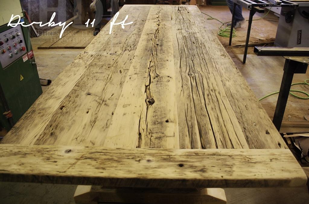 reclaimed wood table Collingwood, Ontario, sawbuck table, HD Threshing, HD Threshing Floor Furniture, mennonite furniture, amish furniture, rustic wood tables Ontario, cottage furniture Ontario, reclaimed wood furniture, sawbuck
