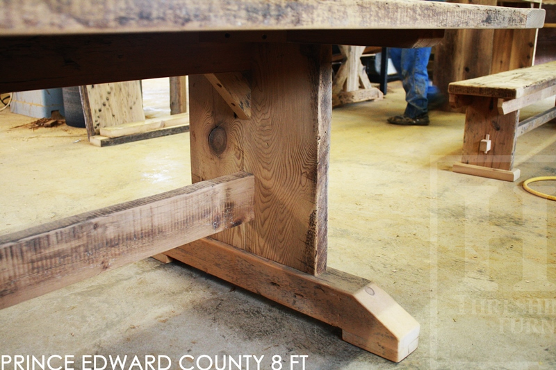 8 Ft Reclaimed Wood Trestle Table In Prince Edward County Home Blog