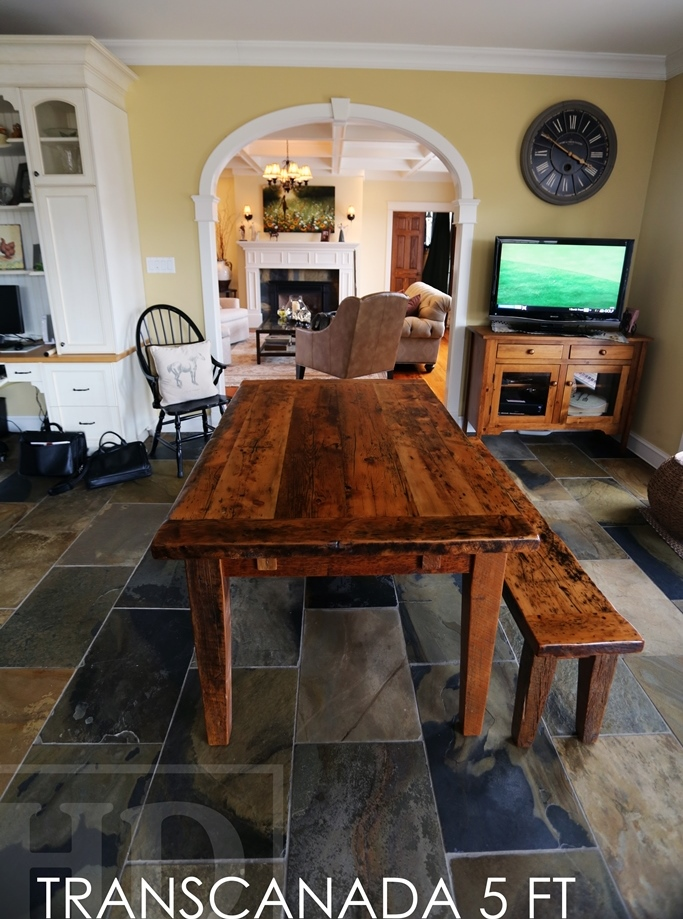 Sensational 5 Ft Reclaimed Wood Harvest Table Bench In Caledon Blog Home Interior And Landscaping Ologienasavecom