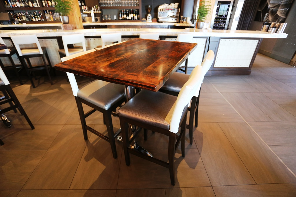 Reclaimed Wood Restaurant Tables Ontario Epoxy Finish Gerald Reinink - Reclaimed wood restaurant table tops