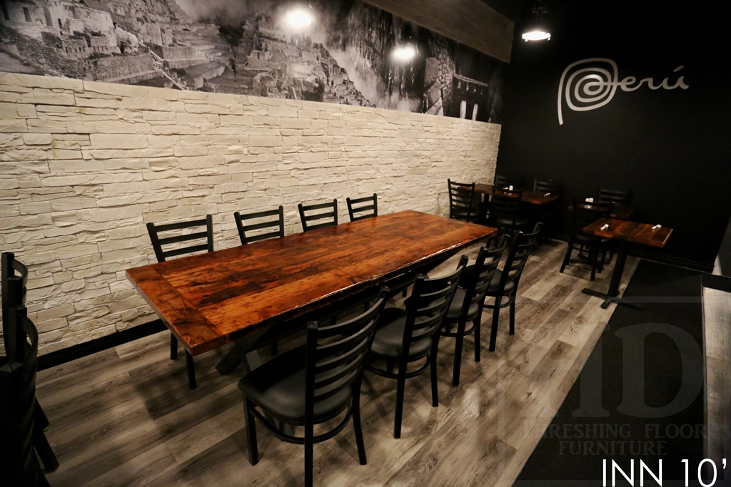 Reclaimed wood restaurant furniture appealing rustic
