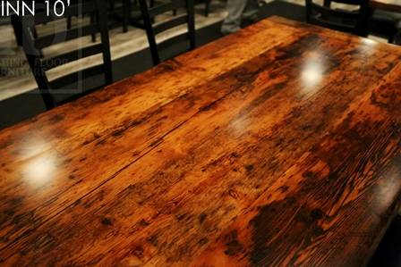 restaurant table tops Ontario, restaurant tables, reclaimed wood restaurant tables, commercial reclaimed wood furniture, epoxy, HD Threshing, HD Threshing Floor Furniture, restaurant, bistro tables